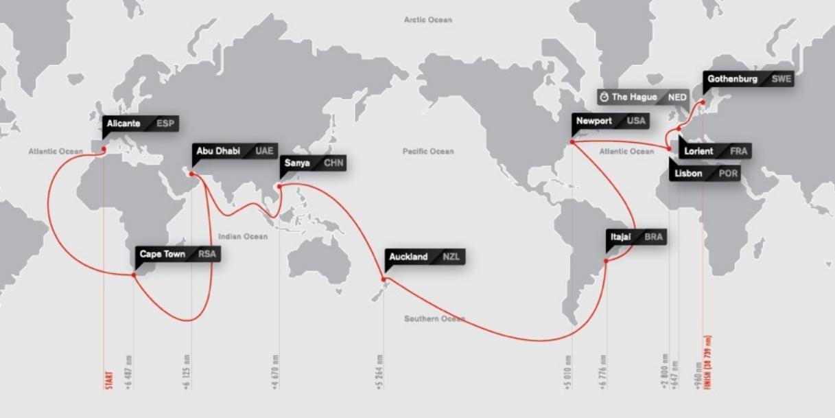 Карта марштура кругосветной регаты вольво 2014-2015
